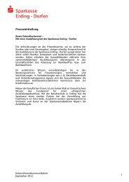 Ausbildung 2012 - und Stadtsparkasse Erding - Dorfen
