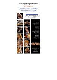 Télécharger le catalogue Edition musicale - Feeling Musique