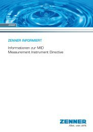 ZENNER INFORMIERT Informationen zur MID Measurement ...