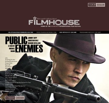 PUBLIC ENEMIES - Filmhouse Cinema Edinburgh