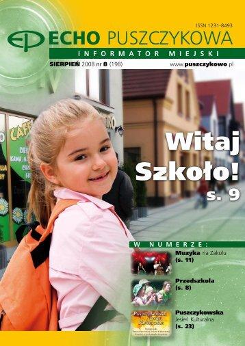 echo sierpien 2008.pdf - Puszczykowo, Urząd Miasta