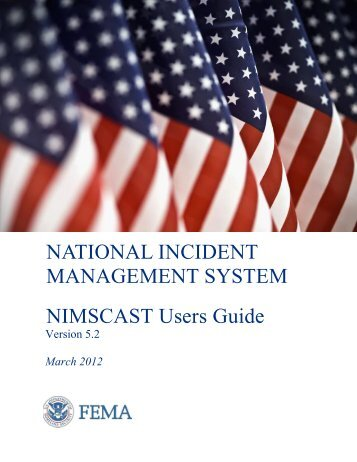 NIMSCAST Users Guide - Federal Emergency Management Agency
