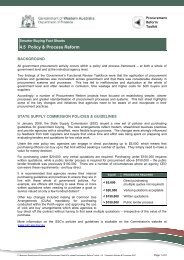 Consistent Policies and Processes - Department of Finance