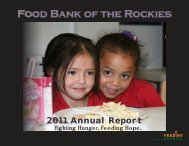 2011 Annual Report - Food Bank of the Rockies