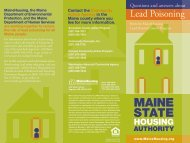 Lead Brochure - Maine State Housing Authority