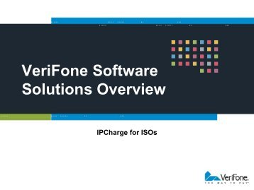 VeriFone Software Solutions Overview - Verifonezone.com