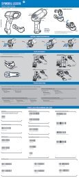 Symbol LS3578 Quick Start Guide, p/n 72-93587-02 ... - POS systems