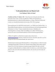 Verbraucherhinweis von MasterCard - Sparkasse Odenwaldkreis
