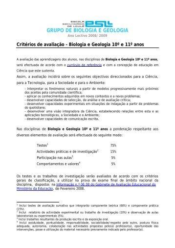 GRUPO DE BIOLOGIA E GEOLOGIA