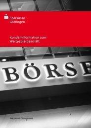 S Sparkasse Göttingen Kundeninformation zum Wertpapiergeschäft