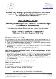 MEDI SÜDWEST LÄDT EIN - Westerwald-Portal