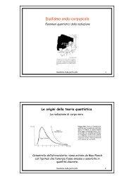 Dualismo onda-corpuscolo - Fisica Sperimentale