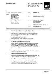 Protokoll - SPD Ortsverein München-Au