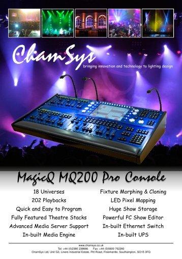 MQ200 Pro - Sept 08.qxd - Live Nation :: esitystekniikka