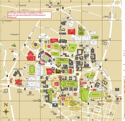 umd map of campus University Of Maryland Campus Map umd map of campus