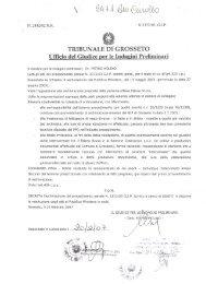 Decreto di archiviazione del procedimento penale N ... - Bruno Falzea