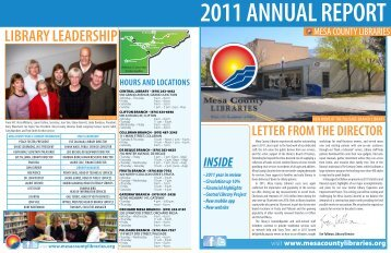 2011 Annual Report - Mesa County Libraries