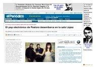 Escenarios - El Periódico de Aragón - SALA LÓPEZ