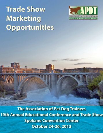 Download the Exhibitor Prospectus - Association of Pet Dog Trainers