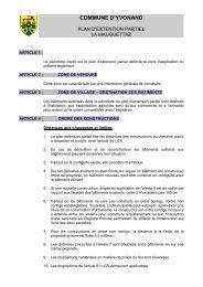 Règlement sur le plan d'extension partiel - Yvonand