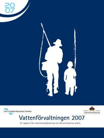 Vattenförvaltningen 2007 - Vattenmyndigheterna