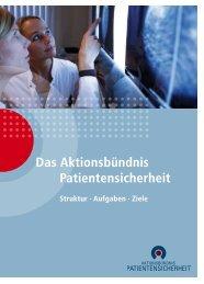 Informationsbroschüre - Aktionsbündnis Patientensicherheit