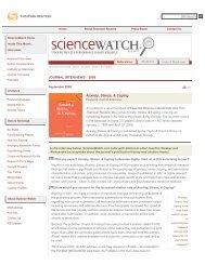 Anxiety, Stress, & Coping - ScienceWatch.com