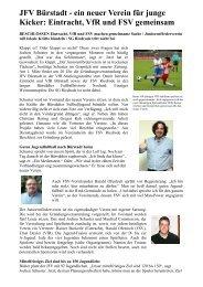 ein neuer Verein für junge Kicker: Eintracht, VfR und FSV gemeinsam
