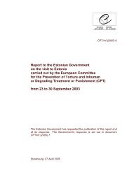 Report to the Estonian Government on the visit to Estonia carried out ...