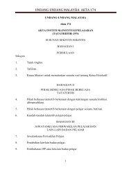 UNDANG-UNDANG MALAYSIA AKTA 174 - Institut Pendidikan Guru ...