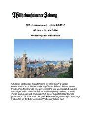 """WZ – Leserreise mit """"Mein Schiff 1"""" 03. Mai – 10. Mai ... - Counter.net"""