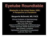 Blepharitis RoundTable Slides - Eyetube.net