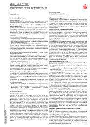 Bedingungen für die SparkassenCard - Sparkasse Muldental