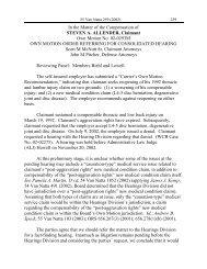 Steven A Allender 020293M - Workers' Compensation Board (WCB)