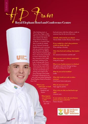 View his interview and recipe here - CHEFMAG