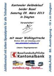 Kantonaler Geländelauf beider Basel Samstag 09 ... - SC Diegten