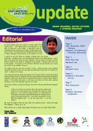 Quarterly newsletter: December 2003 - Agencies for Nutrition Action