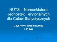 NUTS – Nomenklatura Jednostek Terytorialnych dla Celów ...