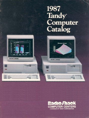 RSC-17 Computer Catalog (1987)(Radio Shack) - TRS-80 Color ...