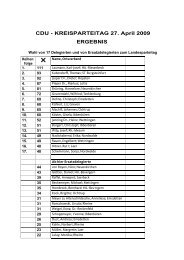 Landesparteitag als PDF-Dokument - CDU Kreisverband Steinfurt