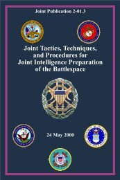 Joint Tactics, Techniques, and Procedures for Joint Intelligence