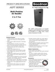 Goodman AEPT Variable Speed Air Handler - Desco Energy