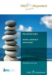 Flyer Palliatieve zorg - Intuïtie, wijsheid of wetenschap?