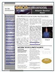 April 2009 - Atlanta Area Section