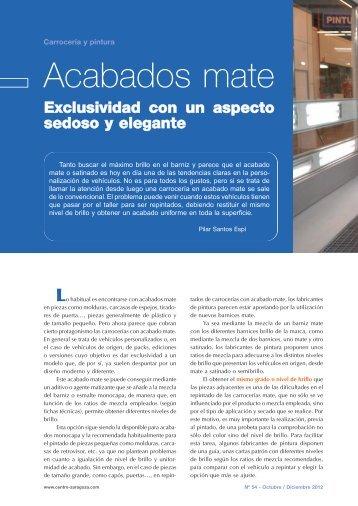 Acabados mate - Centro Zaragoza