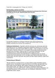 Freies Wort :: Schulumbau startet erst 2013 - Projektscheune