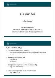 C++ Crash Kurs C++ Inheritance - Universität zu Lübeck
