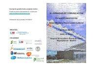 IV JORNADAS DE COMUNICACIÓN Compartir experiencias ... - Amat