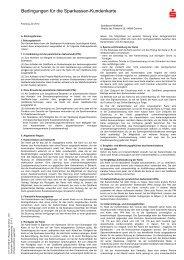 Bedingungen f r die Sparkassen-Kundenkarte - Sparkasse Muldental