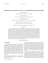 Precipitation from African Easterly Waves in a Coupled Model of the ...